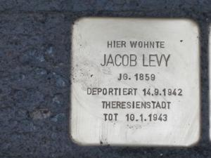 Stolperstein für Jacob Levy. Copyright: MTS