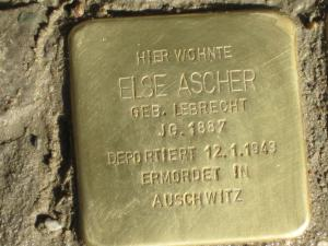 Stolperstein für Else Ascher. Copyright: MTS