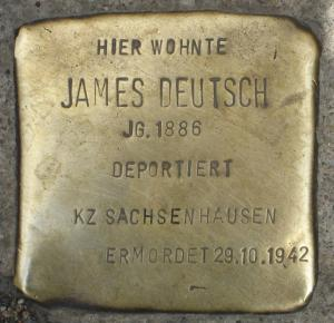Stolpersteine für James Deutsch.