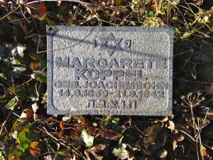 Margarete Koppels Grabstein in Berlin-Weissensee