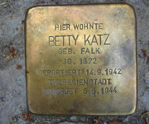 Stolperstein Betty Katz © S.Davids