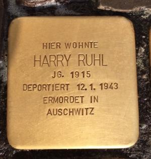 Stolperstein Harry Ruhl