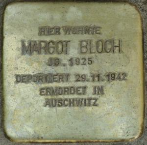 Stolperstein Margot Bloch Bild: Stolpersteine-Initiative CW, Hupka