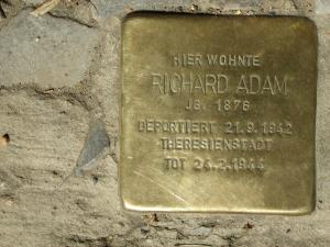 Stolperstein für Richard Adam. Copyright: MTS