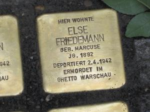 Stolperstein für Else Friedemann. Copyright: MTS