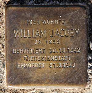 Stolperstein für William Jacoby.