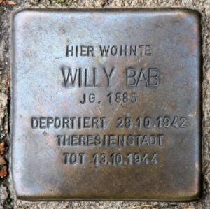 Stolperstein für Willy [Willi] Bab.