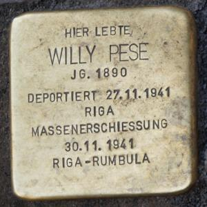 Stolperstein für Willy Pese