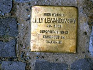Stolperstein für Lilly Lewandowsky. Copyright: MTS