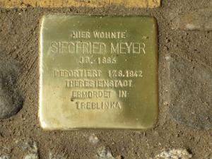 Stolperstein für Siegfried Meyer. Copyright: MTS